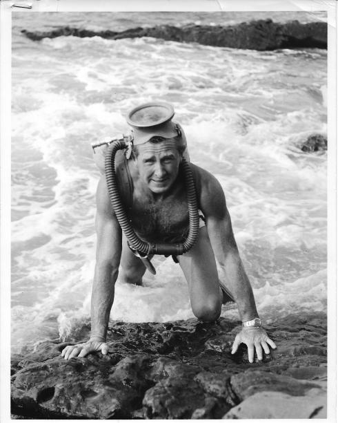 "Lloyd Bridges in ""Sea Hunt"""