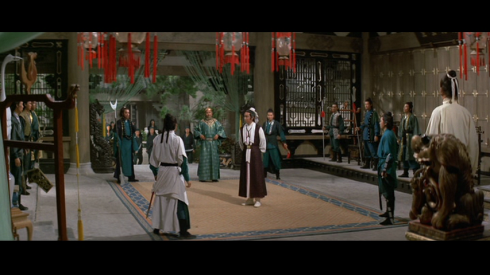 Yueh Hua, center, confronts his enemies in KILLER CLANS (1976)