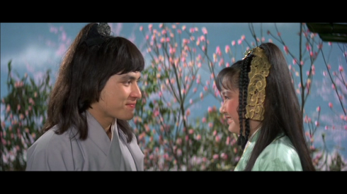 Fu Sheng with Tien Niu in THE BRAVE ARCHER (1977)