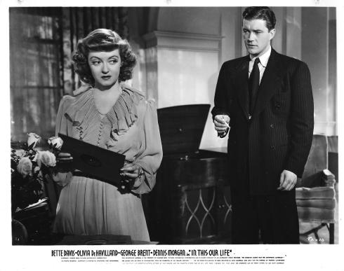 Bette Davis, Dennis Morgan in IN THIS OUR LIFE (1942)