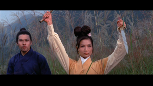 Cheng Pei-Pei (with Lo Lieh) in GOLDEN SWALLOW (1969)