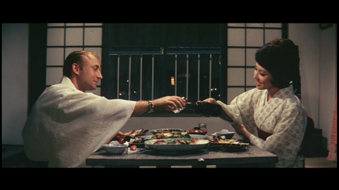Nick Adams, Kumi Mizuno on their first date in FRANKENSTEIN CONQUERS THE WORLD (1965)