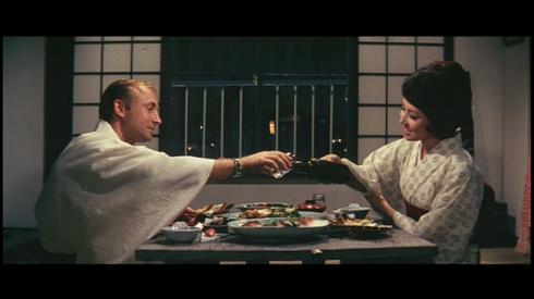Nick Adams, Kumi Mizuno on their first date in FRANKENSTEIN CONQUERS THE WORLD (1965)