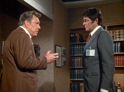 O'Brien with Stuart Whitman in