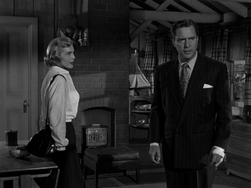 O'Brien with Lizabeth Scott in TWO OF A KIND (1951)