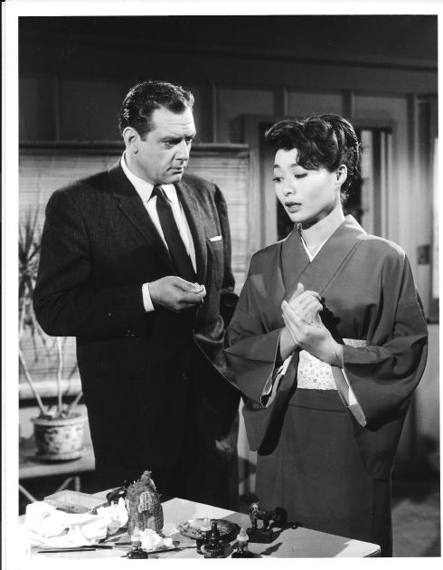 Raymond Burr and Nobu McCarthy in a 1959 episode of