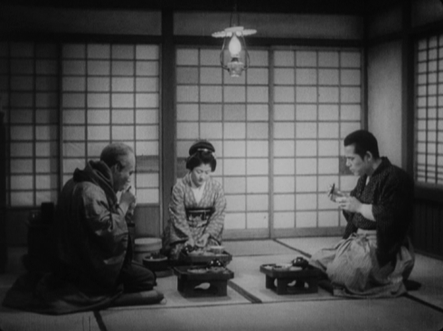 Murai, Sayo and Sugata (L-R: Takashi Shimura, Yukiko Todoroki, Susumu Fujita)