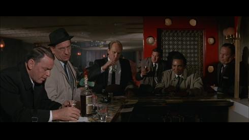 L-R: Sinatra, Jack Klugman, Robert Duvall, Pat Henry, Al Freeman Jr., Ralph Meeker