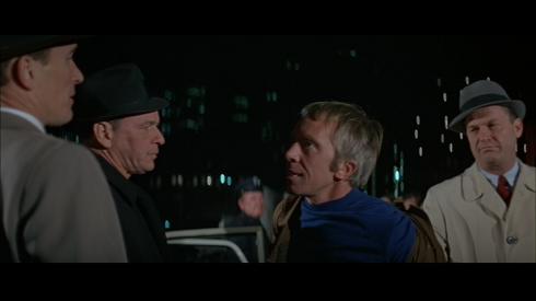 L-R: Robert Duvall, Frank Sinatra, Frank Raiter, Ralph Meeker in THE DETECTIVE
