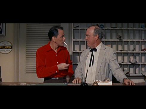 Frank Sinatra, Dub Taylor, in Frank Capra's A HOLE IN THE HEAD