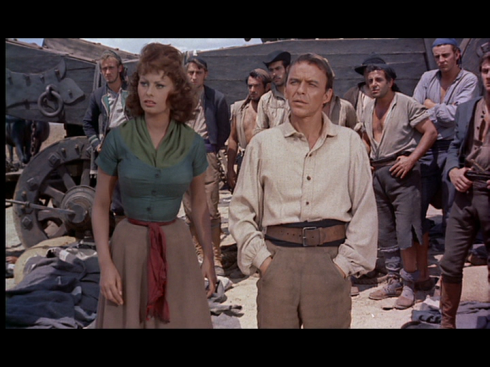 Sinatra with Sophia Loren in THE PRIDE AND THE PASSION