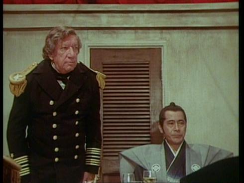Richard Boone and Toshiro Mifune in THE BUSHIDO BLADE (1981)
